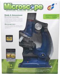 Mikroskop dìtský zvìtšení až 1200X set s doplòky na baterie Svìtlo