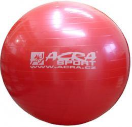 ACRA Míè gymnastický èervený 75cm fitness balon rehabilitaèní do 150kg