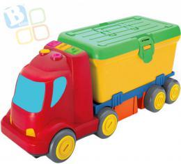 B-KIDS Baby auto náklaïák pracovní stùl 2v1 set s náøadím na baterie pro miminko