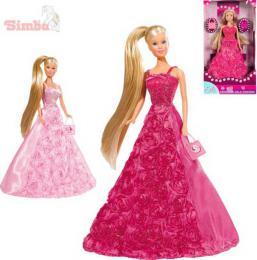 SIMBA Panenka Steffi Gala Princess 29cm set rùžové šaty s doplòky 2 druhy