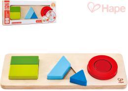 HAPE DØEVO Baby puzzle vkládací geometrické tvary set 6 dílkù oboustranné
