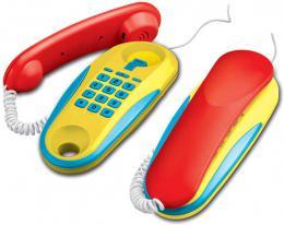 Telefon dìtský pokojový tlaèítkový sada 2 kusy Zvuk na baterie plast