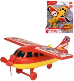 DICKIE Letadlo vrtulové 14cm funkèní vrtule na baterie 2 druhy plast
