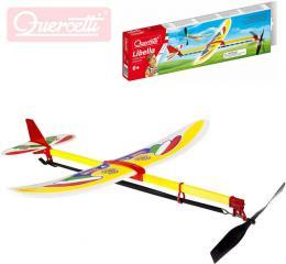 QUERCETTI Libella II letadlo házecí model kluzák vrtule na gumku v krabièce