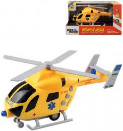 Vrtulník záchranáøský 19cm s hlášením èesky na baterie Svìtlo Zvuk CZ