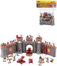 Herní set rytíøský figurky plastové s rozkládacím hradem a doplòky v sáèku