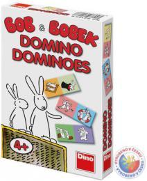 DINO Domino Bob a Bobek 28 kartièek kapesní *SPOLEÈENSKÉ HRY*
