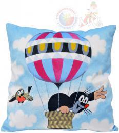 MORAVSKÁ ÚSTØEDNA Polštáø Krtek Létající balón (Krteèek) 30x30cm PLYŠ