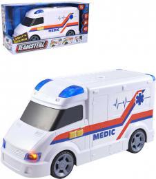 Teamsterz auto lékaøské bílá ambulance na baterie Svìtlo Zvuk plast
