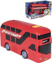 Teamsterz Double Decker mìstský autobus patrový plastový v krabici