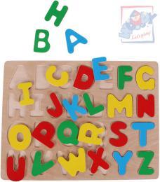 WOODY DØEVO Puzzle vkládací na desce Abeceda