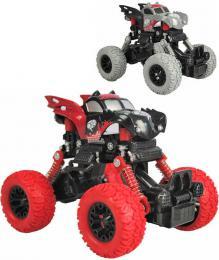 Auto 4WD Monster Car 1:43 zpìtný chod velká kola 2 barvy plast