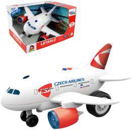 Letadlo ÈSA s hlášením kapitána a letušky na baterie CZ Svìtlo Zvuk