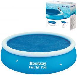 BESTWAY Solární plachta kruhová na bazén Fast Set 244cm modrá 58060