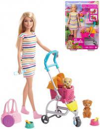 MATTEL BRB Barbie panenka na vycházce set s pejskem a doplòky
