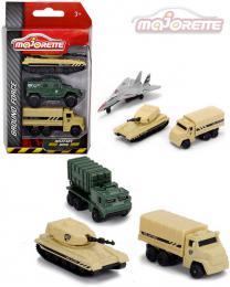 MAJORETTE Ground Force vojenská technika set 3 vozidla kov 3 druhy