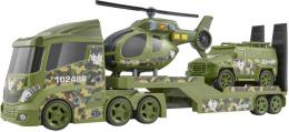 Teamsterz vojenský tahaè set s džípem a vrtulníkem na baterie plast Svìtlo Zvuk