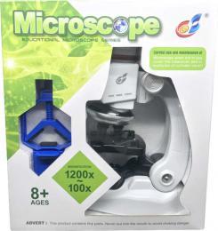 Dìtský mikroskop zvìtšení až 1200X set s doplòky na baterie Svìtlo
