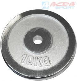 ACRA Chromový kotouè náhradní závaží na èinky 1x10kg 30mm