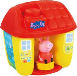 CLEMENTONI CLEMMY Baby kyblík domeèek Peppa Pig set 6 soft kostek s figurkou