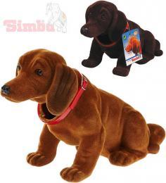 SIMBA Pes s kývací hlavou Jezevèík 24cm dekorace plast 2 barvy