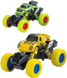 Auto Monster Car 1:60 zpìtný chod velká kola 2 druhy kov