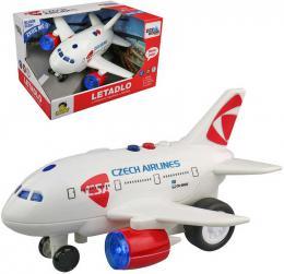 Letadlo ÈSA Czech Airlines s hlášením na setrvaèník na baterie CZ Svìtlo Zvuk