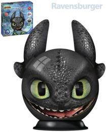 RAVENSBURGER Puzzle 3D puzzleball Jak vycvièit draka 3 Bezzubka 72 dílkù