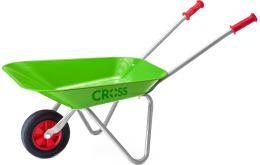 CROSS Dìtské koleèko plechové (koleèka) zelené kovové na písek