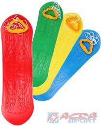 ACRA Dìtský plastový snowboard prkno bez vázání na sníh 4 barvy