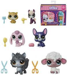 HASBRO Zdobený salón herní set Littlest Pet Shop 2 zvíøátka s doplòky 7 pøekvapení