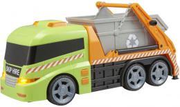 Teamsterz auto popeláøi s kontejnerem na baterie Svìtlo Zvuk plast