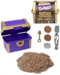 SPIN MASTER Kinetic Sand Ukrytý poklad set magický písek s nástroji v truhle