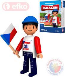 EFKO IGRÁÈEK Fanda hokejová figurka 7,5cm v krabièce STAVEBNICE