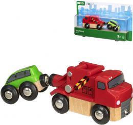 BINO DØEVO Odtahová služba herní set kamion + osobní vozidlo 33528
