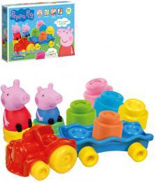 CLEMENTONI CLEMMY Baby vláèek herní set s kostkami Peppa Pig