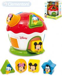 CLEMENTONI Baby domeèek Mickey Mouse vkládaèka se 4 tvary pro miminko