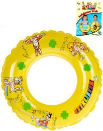 Ètyølístek nafukovací kruh 50cm plavací kolo žluté do vody