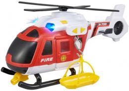 Teamsterz helikoptéra hasièská 39cm set s nosítky na baterie Svìtlo Zvuk
