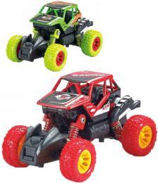Auto Monster Car 1:46 zpìtný chod velká kola 2 druhy kov