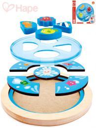 HAPE DØEVO Baby puzzle kruhové moøe skládaèka v rámeèku pro miminko