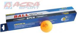 ACRA Míèky na stolní tenis (ping pong) 40 mm oranžové