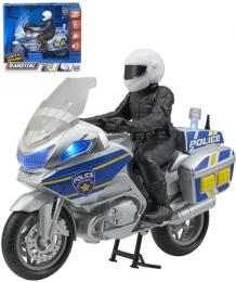 Teamsterz policejní set motocykl s figurkou policisty na baterie Svìtlo Zvuk