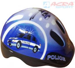 ACRA Helma cyklistická dìtská Brother vel. XS modrá Policie CSH062