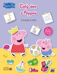 JIRI MODELS Knížka samolepková Peppa Pig Celý den s Peppou