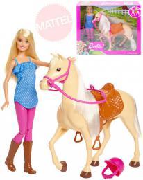 MATTEL BRB Panenka žokejka Barbie jezdecký set s konìm a doplòky