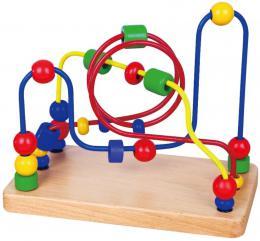 DØEVO Baby labyrint provlékací motorický s korálky *DØEVÌNÉ HRAÈKY*