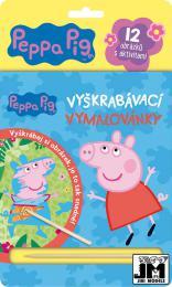 JIRI MODELS Vymalovánky škrabací Peppa Pig set s døevìným rydlem