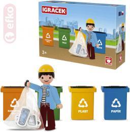 EFKO IGRÁÈEK Tøídíme odpad set figurka s doplòky STAVEBNICE