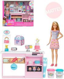 MATTEL BRB Cukráøství kreativní set panenka Barbie s modelínou a doplòky